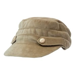 Scala Pronto Tan Cabbie Cap Hat
